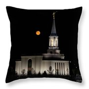 Star Valley Wyoming Temple -  Grain Harvest Moon Throw Pillow