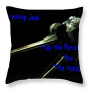Star Wars Birthday Card 7 Throw Pillow