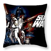 Star Wars Movie Poster Throw Pillow