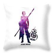 Star Wars Rey And Bb-8 Throw Pillow