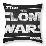 Star Wars The Clone Wars Chalkboard Typography Throw Pillow