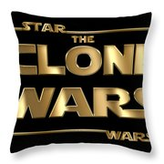 Star Wars The Clone Wars Typography Throw Pillow