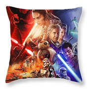 Star Wars The Force Awakens Artwork Throw Pillow