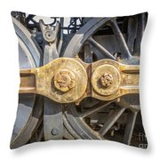 Starboard Drive Wheels And Connecting Rods No. 9000 Throw Pillow