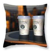 Starbucks At The Top Throw Pillow