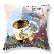 Starbucks Mug Nashville Throw Pillow