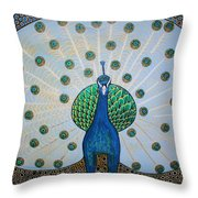 Starbucks Peacock  Throw Pillow
