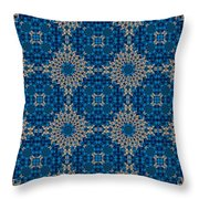Stardrop Diamond Blue Throw Pillow