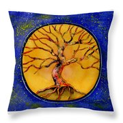 Stardust Tree Throw Pillow