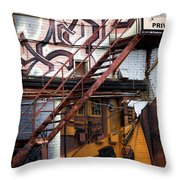 Stare Stair Throw Pillow by Lisa Knechtel