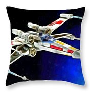 Starfighter X-wings - Da Throw Pillow
