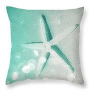 Starfish Bubbles In The Twilight Throw Pillow