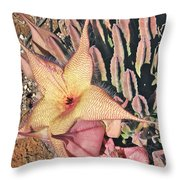 Starfish Cactus Throw Pillow
