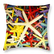 Starfish Dressed Up Throw Pillow