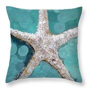 Starfish Goldie Throw Pillow by Kristen Abrahamson