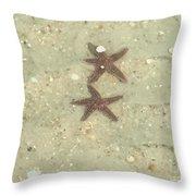 Starfish In Love Throw Pillow