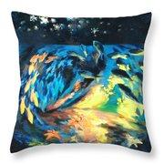 Starfish Night Throw Pillow