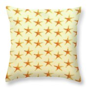 Starfish Pattern. Throw Pillow
