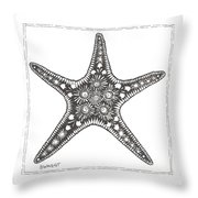 Starfish Throw Pillow by Stephanie Troxell