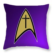 Starfleet Pastor  Throw Pillow
