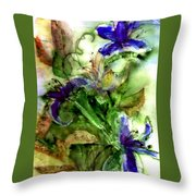 Starflower Throw Pillow