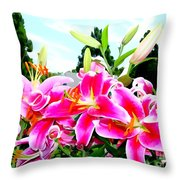Stargazer Lilies #1 Throw Pillow