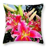 Stargazer Lilies #2 Throw Pillow