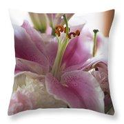 Stargazer Oriental Lilly Throw Pillow