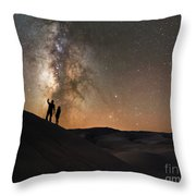 Stargazers Under The Night Sky Throw Pillow