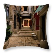 Stari Grad Steet Throw Pillow