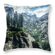 Staring At The Continental Divide Throw Pillow