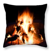 Staring Into The Fire Throw Pillow