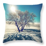 Stark Shadows Throw Pillow