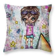 Starla Jones The 3rd Intergalactic Star Jumper Throw Pillow