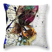 Starling On A Strat Throw Pillow