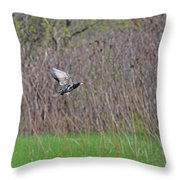 Starling Take-off Throw Pillow