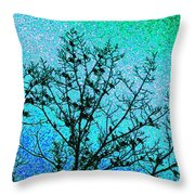 Starlings Throw Pillow