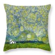 Starry Ballintoy Church Throw Pillow