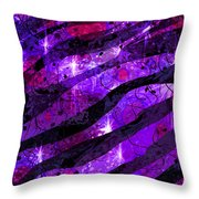 Starry Eyed And Black Lace Throw Pillow