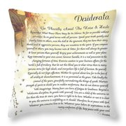 Starry Guardian Angel Desiderata Throw Pillow