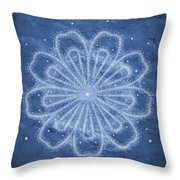 Starry Kaleidoscope Throw Pillow