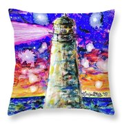 Starry Light Throw Pillow by Monique Faella