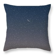 Starry Morning Sky Throw Pillow