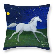 Starry Night In August Throw Pillow
