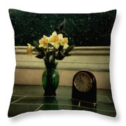 Starry Night In Spring Throw Pillow