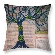 Starry Night-inspired Tree Throw Pillow