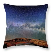 Starry Night Over Mesa Arch Throw Pillow