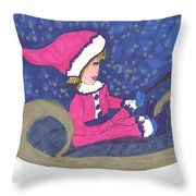 Starry Sleigh Ride Throw Pillow