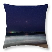 Starry, Starry Night At Catherine Hill Bay Throw Pillow