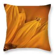 Starry Sunflower Throw Pillow